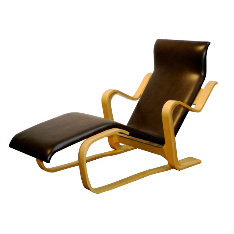 Marcel breuer for knoll chaise at 1stdibs for Breuer chaise lounge