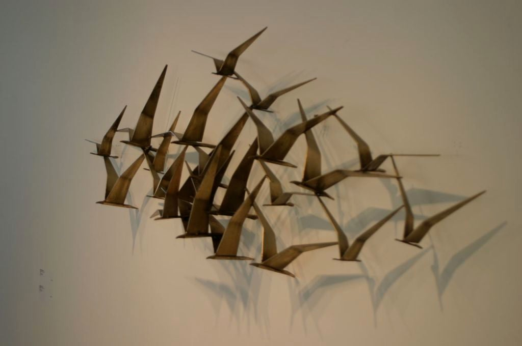C Jere Wall Sculpture Of Birds In Flight At 1stdibs