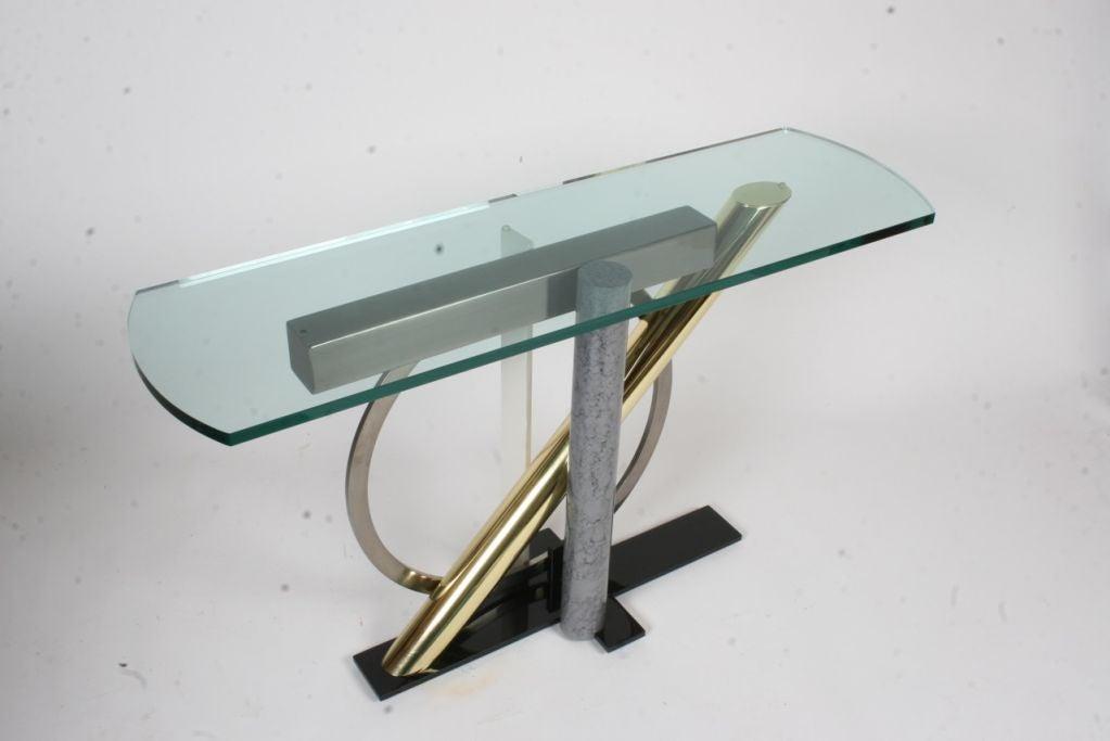 American Kaizo Oto for Design Institute of America Memphis Style Console For Sale