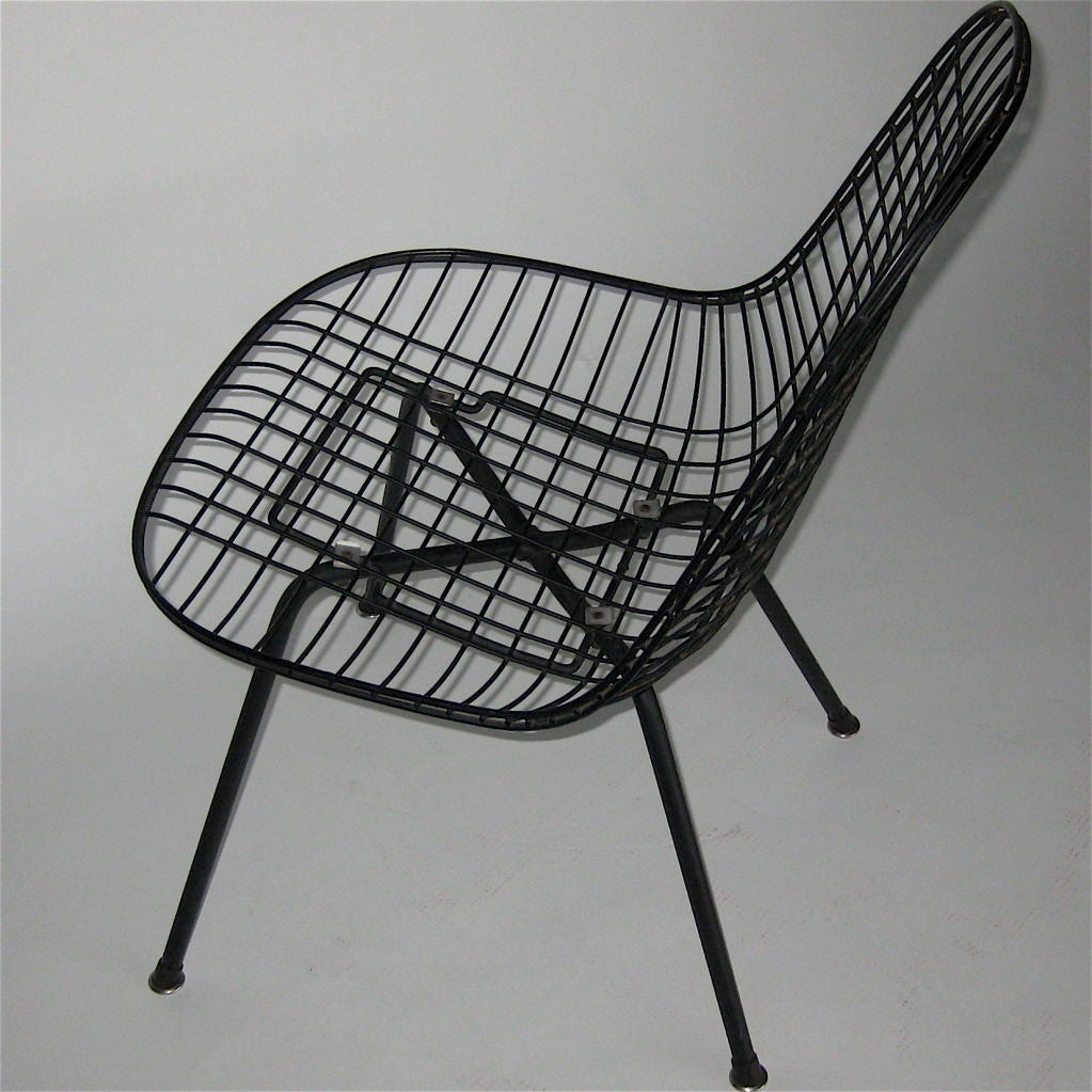 early low lounge x base wire shell chair by charles eames