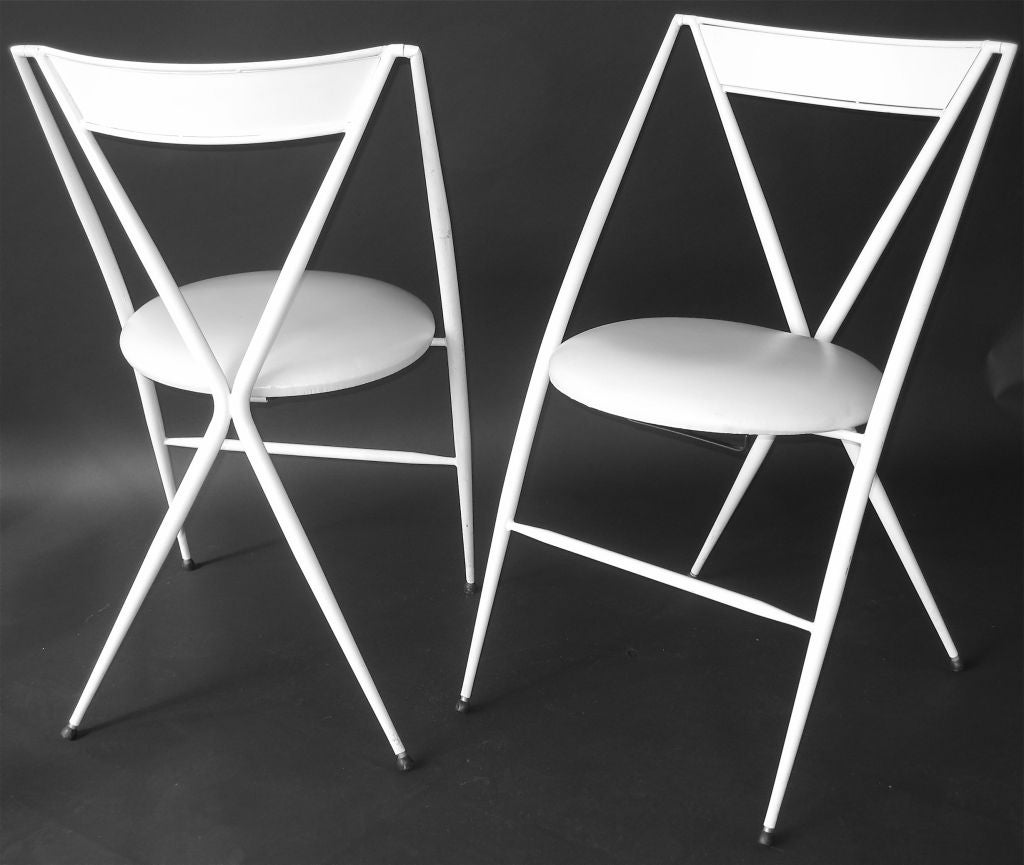 Set of four folding chairs by abitare at 1stdibs for Abitare furniture