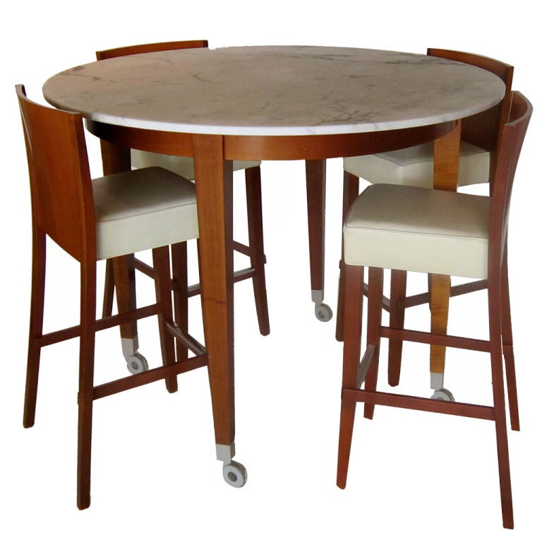 High table w four stools neoz project by philippe starck for Philippe starck dining tables