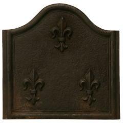 c.1890 French Iron Plaque w/Fleur de Lys