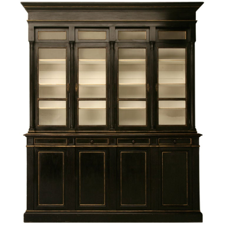 c.1875 French Napoleon III Bibliotheque/Cabinet For Sale