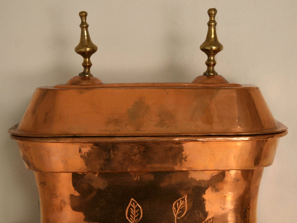 original french copper lavabo w brass accents at 1stdibs. Black Bedroom Furniture Sets. Home Design Ideas