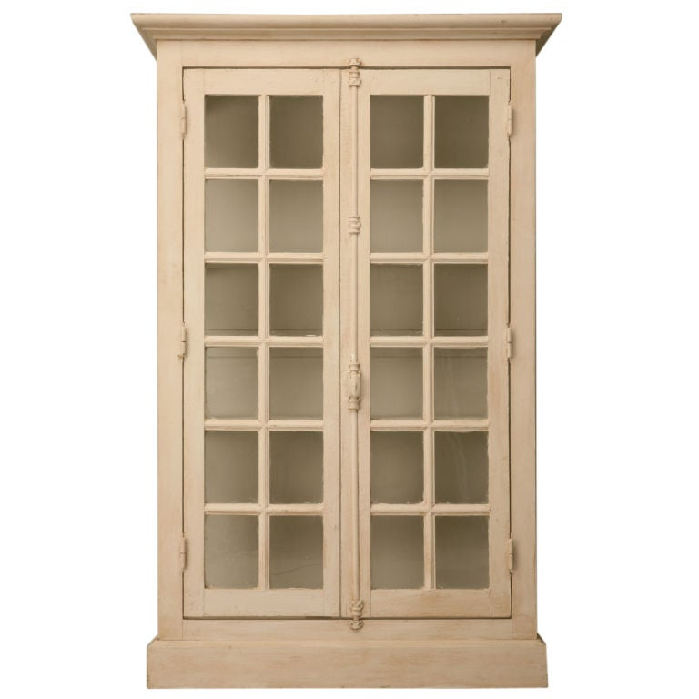 Antique French Door Bibliotheque China Cabinet 1