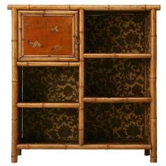 c.1890 Antique English Bamboo Bookcase