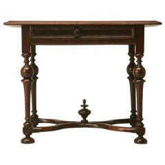 Fabulous Antique French Figured Walnut Writing Table w/Drawer
