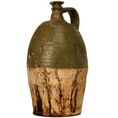 c.1850 Handmade Antique French Oil Jug