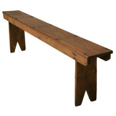 c.1880 Antique English Primitive Pine Farmhouse Bench