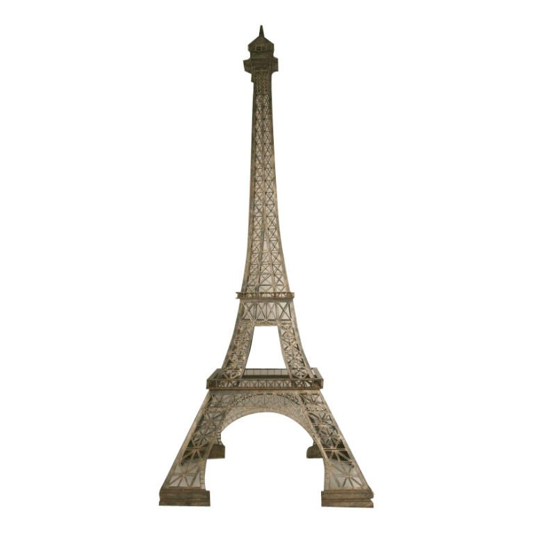 Vintage French 11' Steel Eiffel Tower Replica For Sale