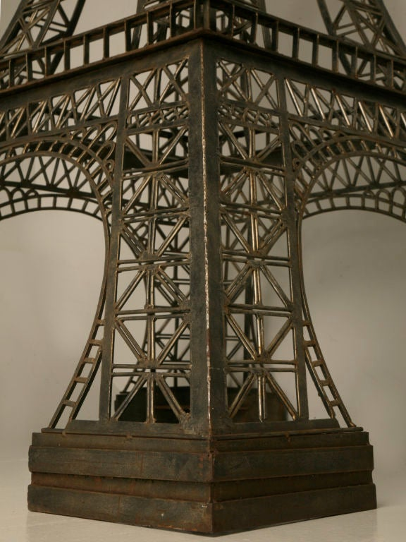 Vintage French 11' Steel Eiffel Tower Replica For Sale 6
