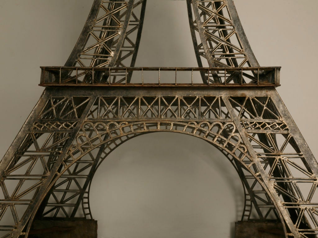 Vintage French 11' Steel Eiffel Tower Replica For Sale 3