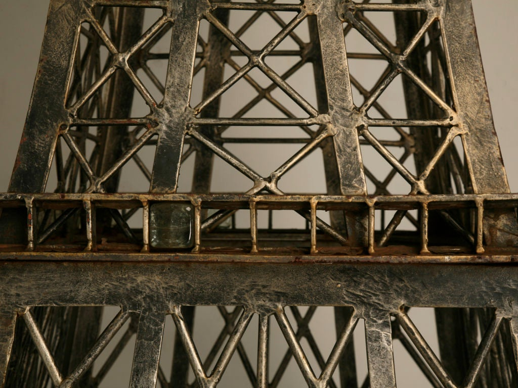Vintage French 11' Steel Eiffel Tower Replica For Sale 4