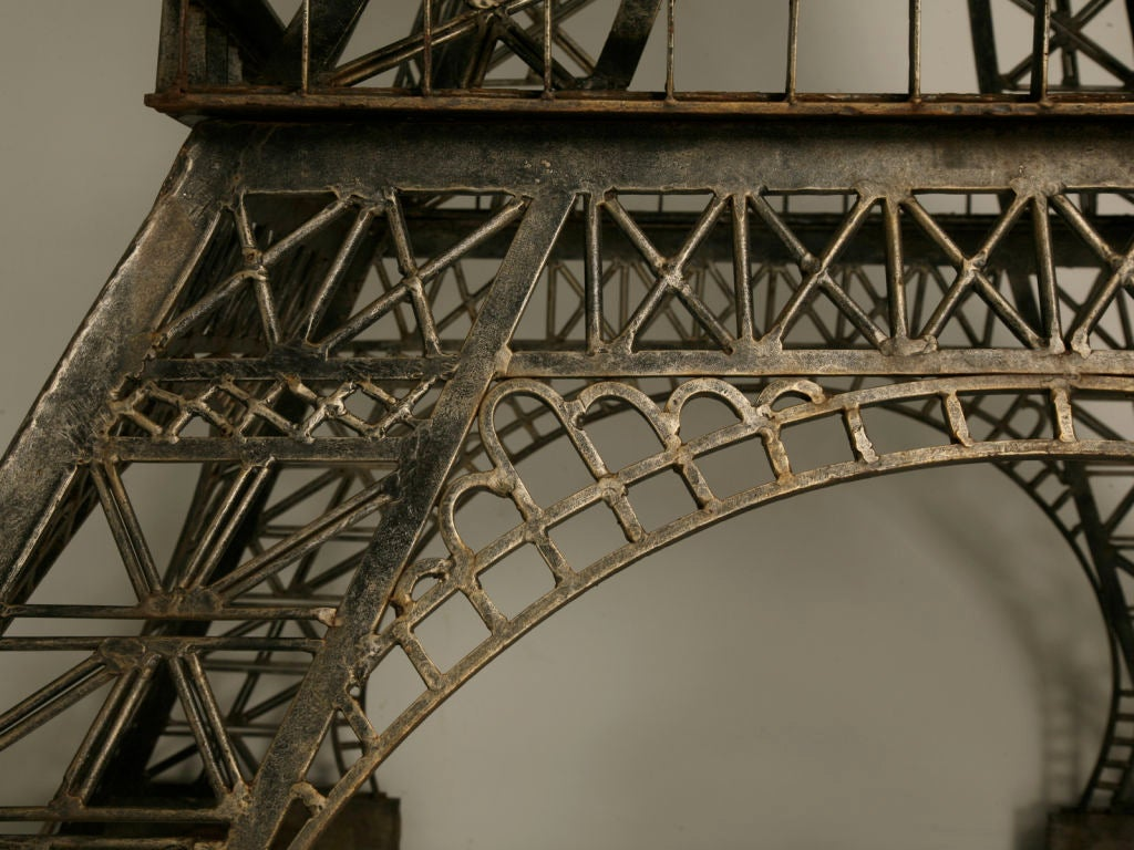 Vintage French 11' Steel Eiffel Tower Replica For Sale 5