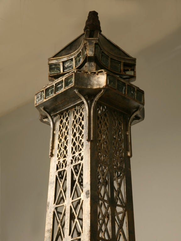 Vintage French 11' Steel Eiffel Tower Replica For Sale 2