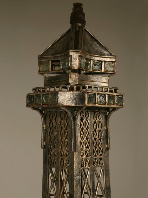 Vintage French 11' Steel Eiffel Tower Replica In Good Condition For Sale In Chicago, IL