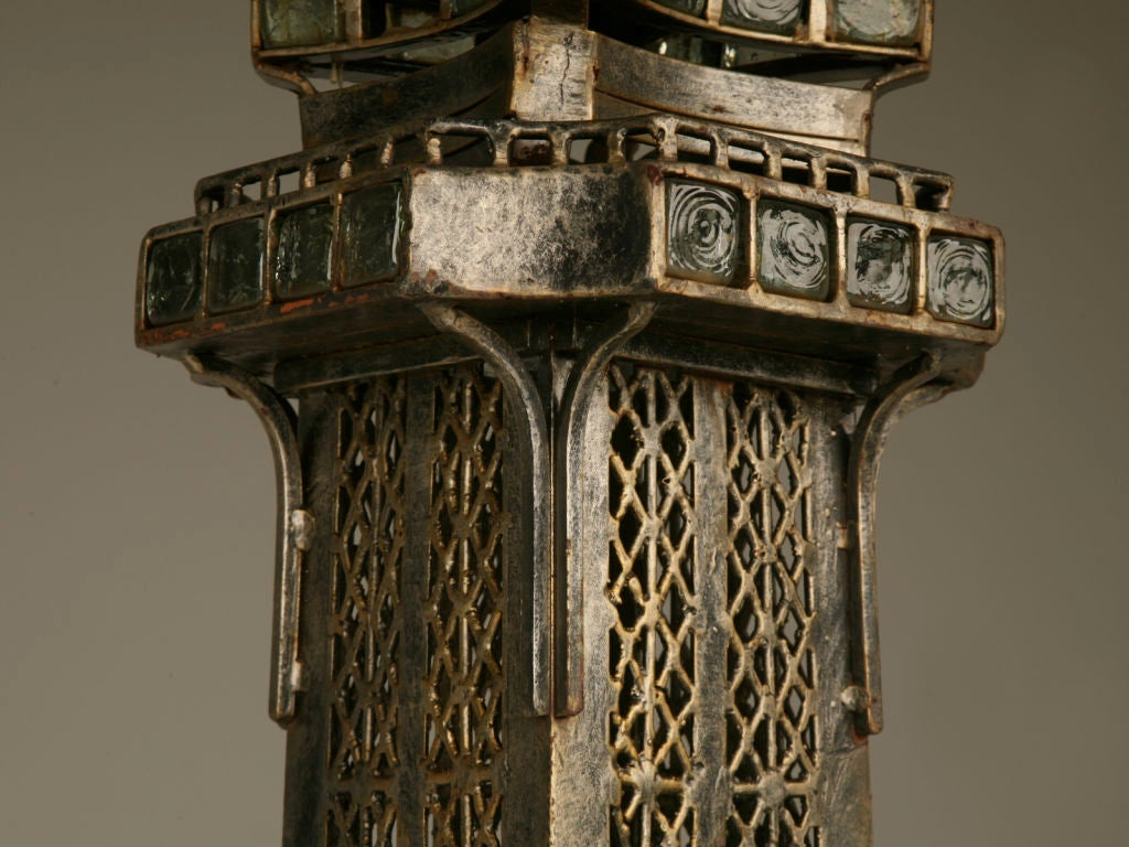 Mid-20th Century Vintage French 11' Steel Eiffel Tower Replica For Sale