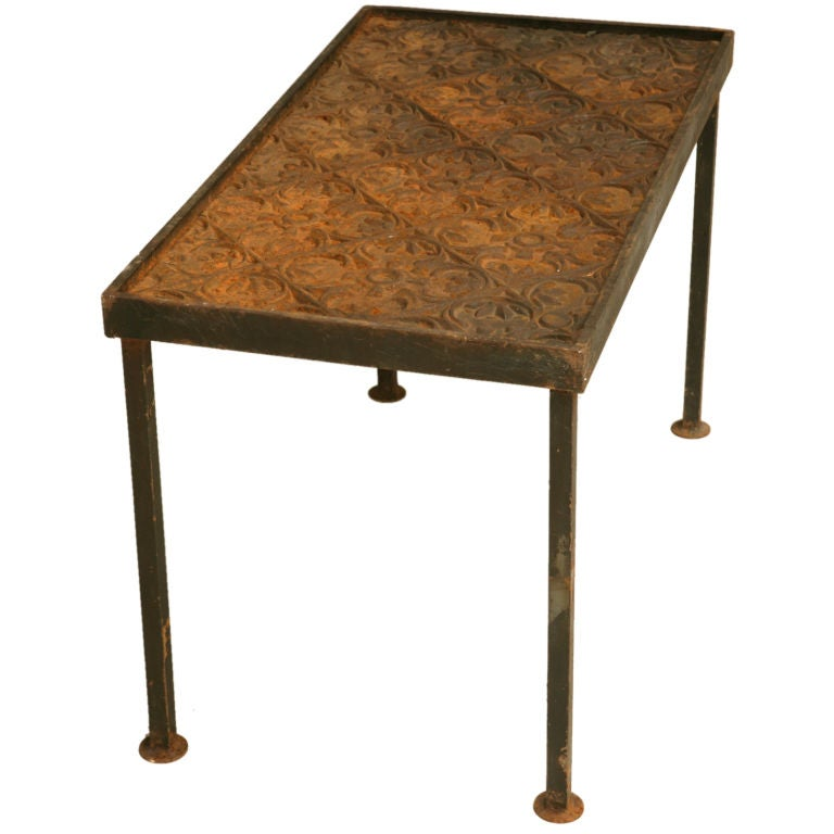 Vintage architectural steel coffee table at 1stdibs for Architectural coffee table