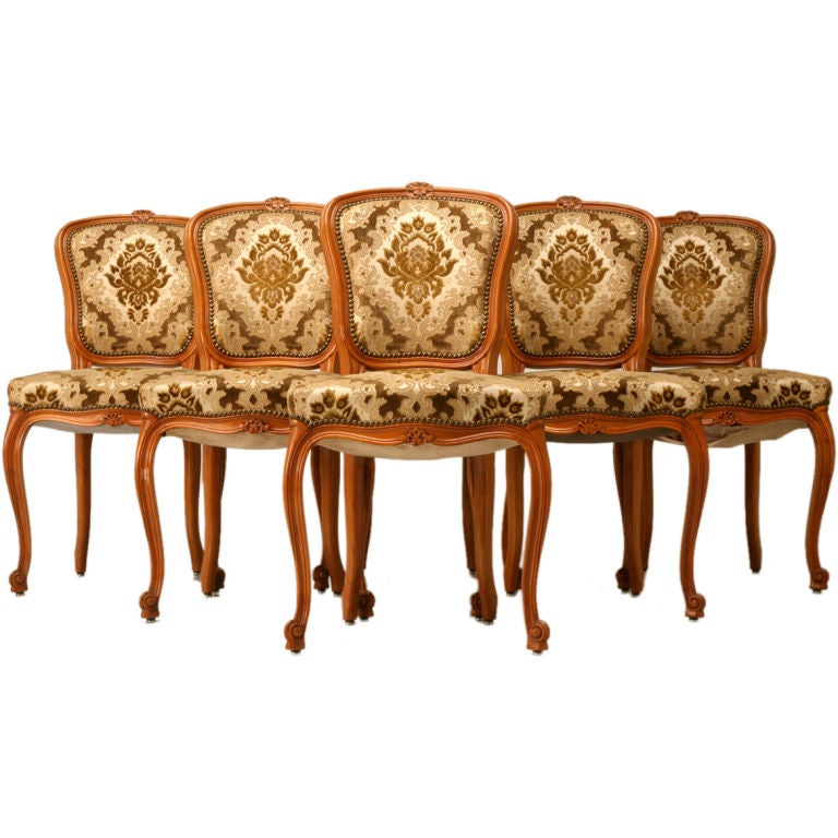 c 1930 s Set of 6 French Louis XV Dining Chairs at 1stdibs