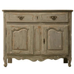 Original 18th Century Antique French Painted Louis XV Buffet