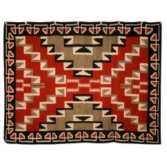 Navajo Ganado Pattern Rug from Klagetoh, Az., circa 1940