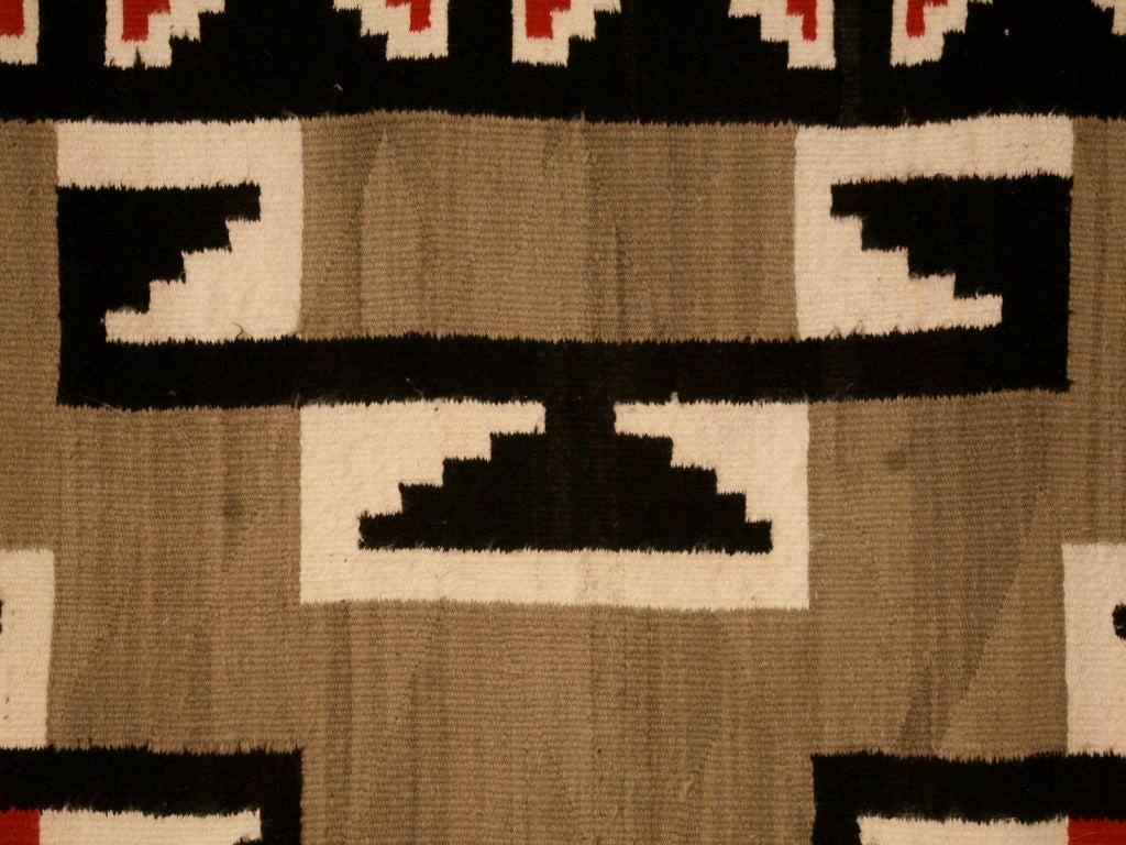 C 1940 Navajo Ganado Pattern Rug From Klagetoh Az For