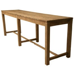 c.1880 Rustic French Solid White Oak Work Table/Island