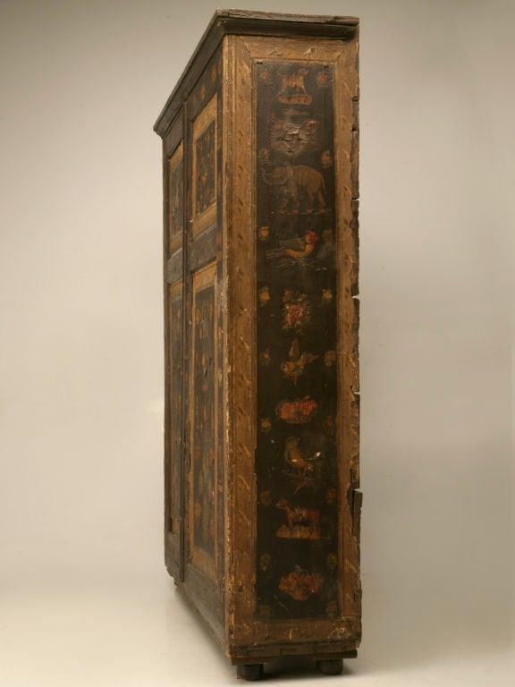 Handmade Country English Folk Art Découpage Cupboard 2