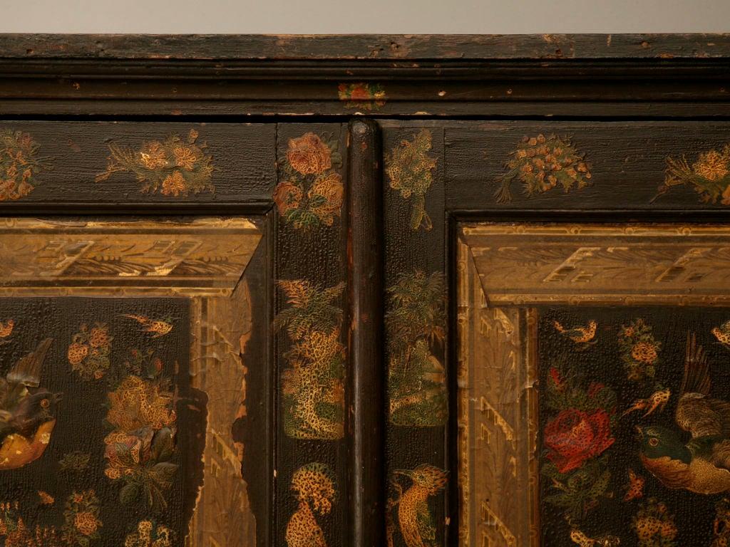 Handmade Country English Folk Art Découpage Cupboard 4