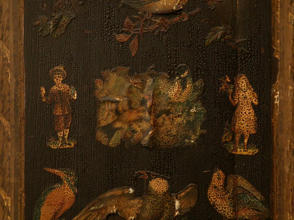 Handmade Country English Folk Art Découpage Cupboard For Sale 4