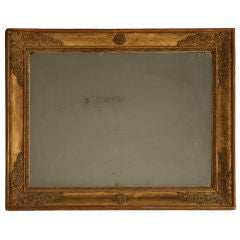 Petite All Original 18th C. Antq French Gilt Framed Sugar Mirror
