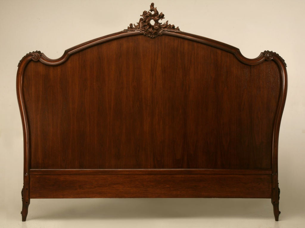 Breathtaking carved antique french rococo king size bed at for French baroque bed