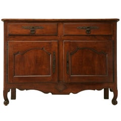 Exquisite 18th Century, French Louis XV Cherry 2 over 2 Buffet