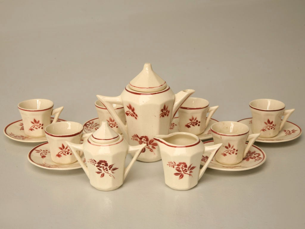 C 1940 Vintage French Hand Painted Child S Tea Set At 1stdibs