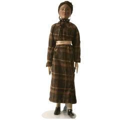 c.1910 Antique English Wooden Maiden Doll