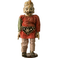 c.1910 Antique English Wooden Merchant Doll