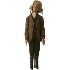 c.1910 Antique English Wooden Gentleman Doll