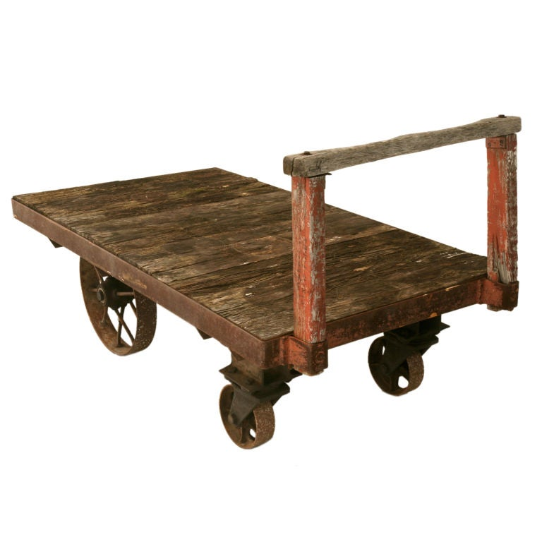 C 1900 Original French Industrial Railroad Cart For Sale