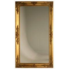 c.1850 Antique French Gilded Mirror w/Original Sugared Glass