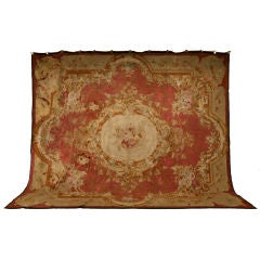Palatial Original Antique French Aubusson Rug