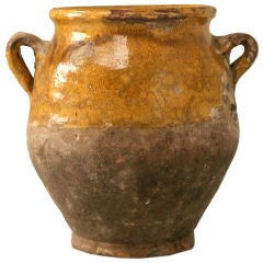 c.1870 Petite Original Antique French Confit Pot