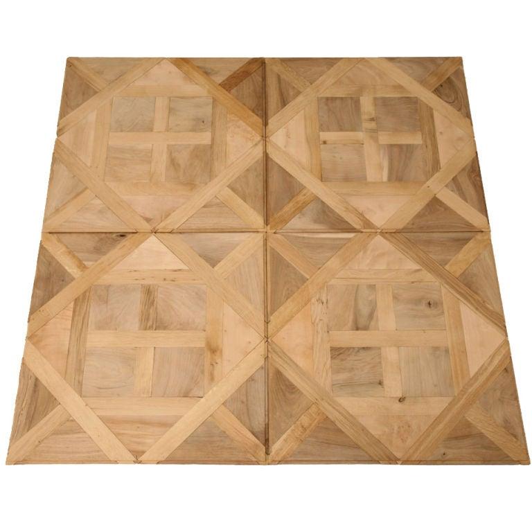 Handmade French Oak Walnut Cherry Sycamore Parquet Flooring For Sale