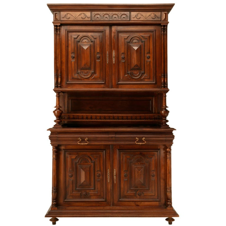 French henri ii walnut cupboard or hunt cabinet at for 1880 kitchen cabinets
