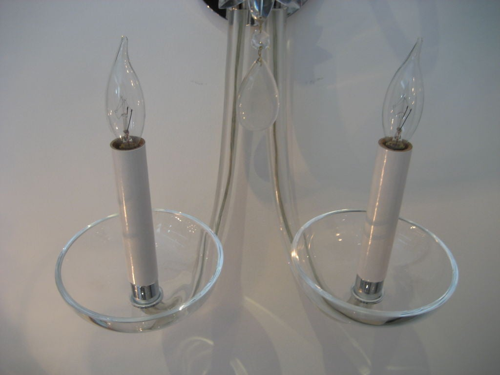 Wall Sconces Art Glass : Pair of Murano Glass Art Deco Wall Sconces at 1stdibs