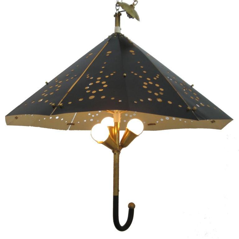 Whimsical Mid Century Umbrella Light Fixture At 1stdibs