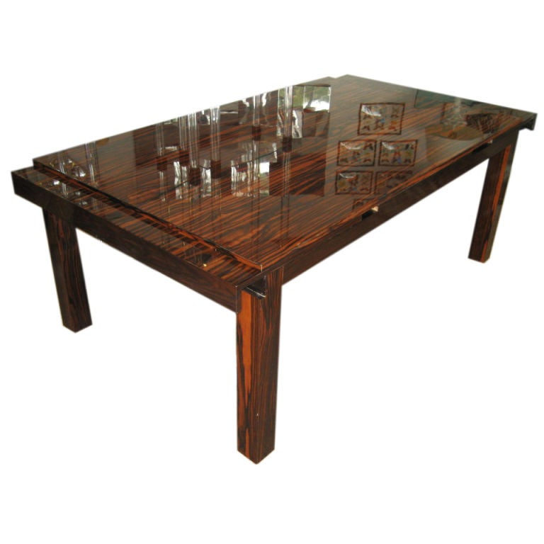 Macassar Dining Extension Table At 1stdibs