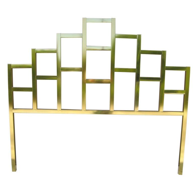 hollywood regency style brass bed headboard at stdibs, Headboard designs
