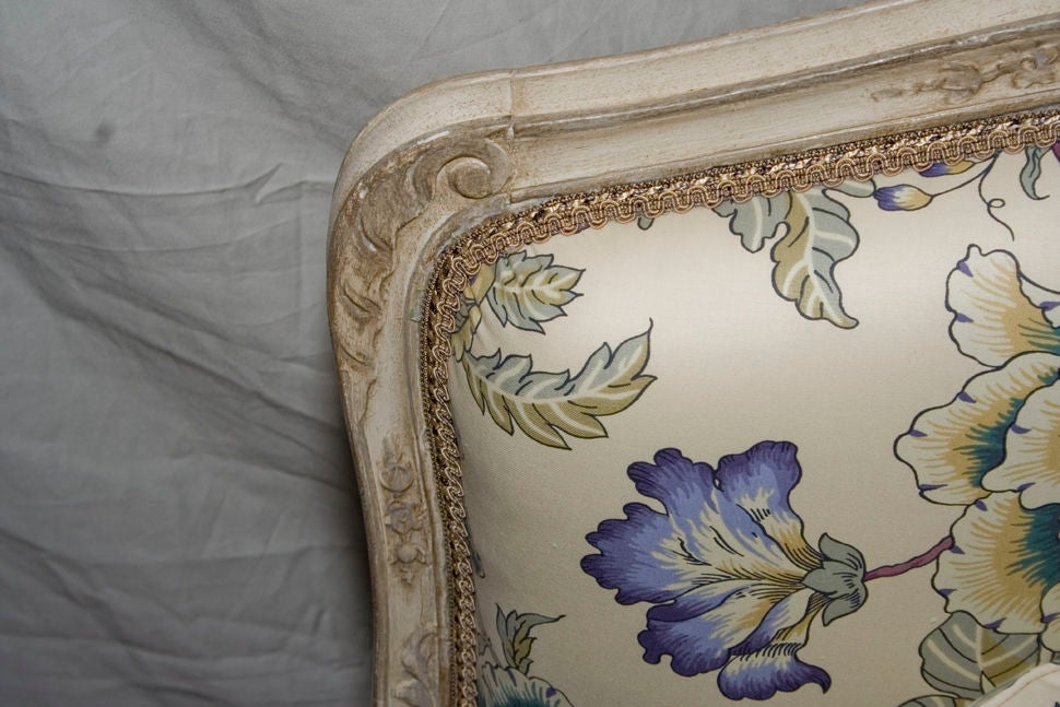 A French Louis XV Style Painted Settee 2