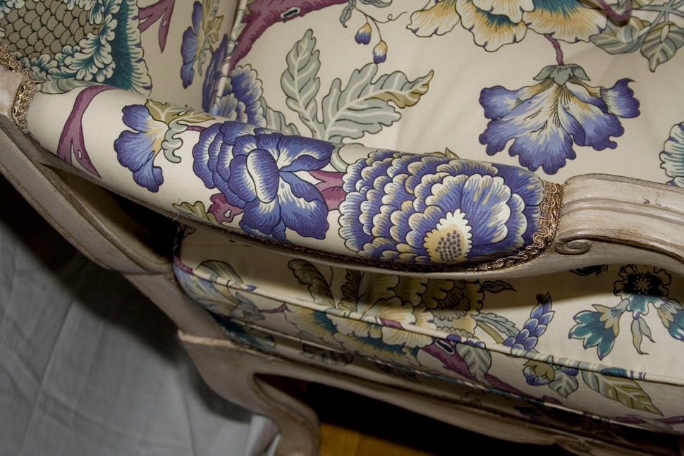 A French Louis XV Style Painted Settee 3